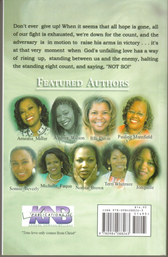 FEATURED AUTHORS:  Amealia Miller, An'drea Wilson, BB Davis, Pauline Mansfield , Sonnie Beverly, Michelle Fuqua, Norlita Brown, Terri Whitmire, Jonquille
