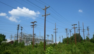 electrical utility poles image